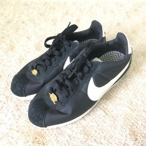 Nike Cortez XLV 1972 Black Nylon & Gold Shoes